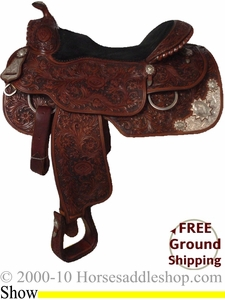 "SOLD 2011/08/01 PRICE REDUCED 16"" Used Silver Mesa Show Saddle ussm1718 *Free Shipping*"