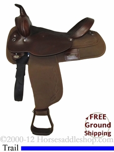 "SOLD 2012/03/17 $650 16"" Used Circle Y Cordura Trail Saddle uscy2228 *Free Shipping*"