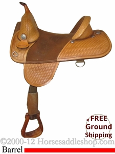 "SOLD 2012/05/10 $8.95 15"" Used Circle Y Barrel Racing Saddle uscy2282 *Free Shipping*"