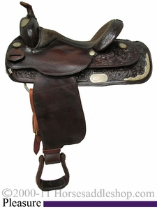 "SOLD 2013/01/16  $$569.75  PRICE REDUCED!!! 15"" Used Circle Y Pleasure Saddle uscy2001 *Free Shipping*"