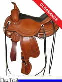 "16"" Circle Y Julie Goodnight Wind River Flex2 Trail Saddle 1750"