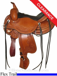 "SOLD 2014/08/01 $2115 16"" Circle Y Julie Goodnight Wind River Flex2 Trail Saddle 1750"