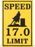 Speed Limit Barrel Sign 27-154