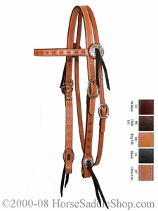 Spider Tooled Gaiter Browband Headstall by Circle Y y0100-63
