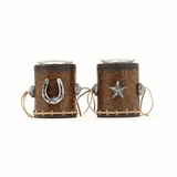 Star and Horseshoe 2 pc. Votive Holder Set 94218
