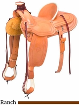 """** SALE ** 15"""" to 17"""" The Southwest Wade Ranch Saddle 200-6344"""