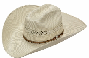 DISCONTINUED Tony Lama 10X Shantung Tan/Ivory Hat 73422