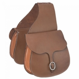 Tough-1 Leather Saddle Bag 61-9575 CLEARANCE