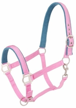 Tough-1 Nylon Padded Halter with Satin Hardware