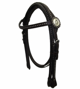 Tough-1 Pony Dots and Star Conchos Headstall with Reins CLEARANCE