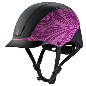 Troxel Spirit Purple Boho All-Purpose Riding Helmet 04-540