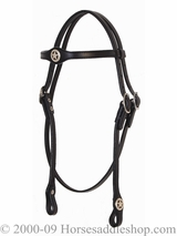 Tucker Aztec Star Headstall 552 Brown Black Golden