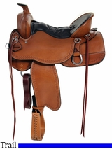 "16.5"" to 18.5"" Tucker Big Bend Trail Saddle 293 w/Free Pad"