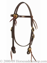 Tucker Brass Heart Headstall 553 Black Brown Golden