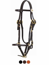 Tucker Logo Halter Bridle 556 Brown Golden