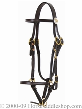 Tucker Logo Halter Bridle 556 Brown Black Golden