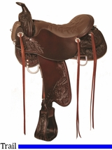 "15.5"" to 18.5"" Tucker Meadow Creek Trail Saddle 291 w/Free Pad"