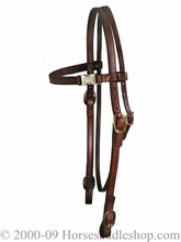 Tucker Mule Bridle 174 Black Brown Golden