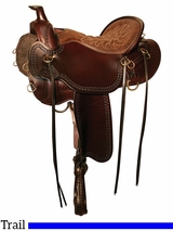 "15.5"" to 18.5"" Tucker Pine Ridge Mule Trail Saddle 289 w/Free Pad"