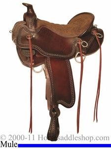"15.5"" to 18.5"" Tucker Pine Ridge Mule Trail Saddle 289 *free gift*"