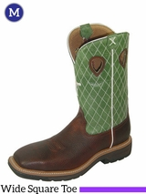 """Twisted X Men's Lite Cowboy Work 12"""" NWS Toe Boots mlcs002"""
