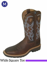 """Twisted X Men's Lite Cowboy Work 12"""" NWS Toe Boots mlcs003"""