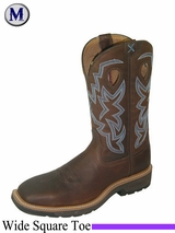 "Twisted X Men's Lite Cowboy Work 12"" NWS Toe Boots mlcs003"