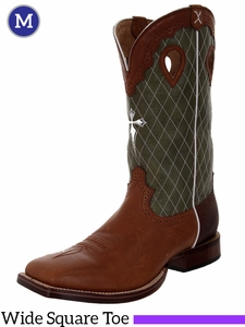 "Twisted X Men's Ruff Stock 14"" NWS Toe Boots Peanut Retan & Olive mrsl010"