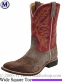 "Twisted X Men's Top Hand NWS Toe Boot 11"" Distressed Coffee & Red mth0002"
