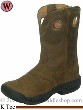 "Twisted X Women's 9"" All Around K Toe Boot Distressed Saddle wab0001"