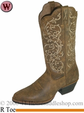"Twisted X Women's Western 12"" R Toe Boots Bomber wwt0025"