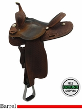 "Used 14.5"" Cool Horse Medium Barrel Saddle 504883 usch3296 *Free Shipping*"