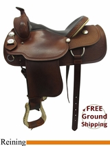 "SOLD 11/12/15 Used 15.5"" Crates Reiner Saddle, Wide Tree 4524-3 uscr3286 *Free Shipping*"