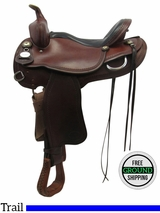 """Used 15"""" Crates Wide Trail Saddle 2120-2 uscr3337 *Free Shipping*"""