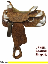 """Used 15"""" Silver Mesa Show Saddle 3279749 ussm3299 *Free Shipping*"""
