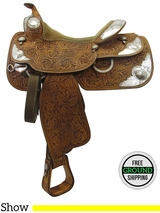 "Used 15"" Silver Mesa Show Saddle 3279749 ussm3299 *Free Shipping*"
