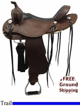 """SOLD 2015/11/15 Used 17"""" Cashel Trail, Wide Tree Saddle ChCT usch3288 *Free Shipping*"""