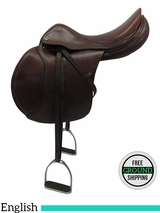 "Used 17"" Jaguar Harry/Dabbs Close Contact Saddle 03020271750 usen3297 *Free Shipping*"