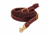Weaver Latigo Leather 3-Plait Roper Rein 50-1504