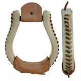 Weaver Leather Rawhide Covered Oxbow Stirrups wv30-0775