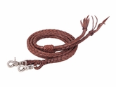 Weaver Round Braided Latigo Split Reins 50-1751
