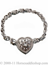 DISCONTINUED Western Bracelet with Crystal Heart 29490
