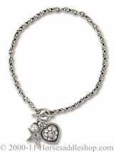Western Charm Pearl, Heart & Star Necklace 29484