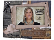 Western Moments Cow Girl Picture Frame 94594