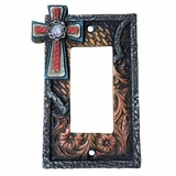 Western Moments Cross Single Switch Plate 94329