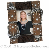 Western Moments Double Belt Buckle Picture Frame 94608