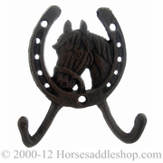 Western Moments Horseshoe Horsehead Wall Mount Coat Hook 94766