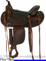 "15"" to 17"" Dakota Flex Tree American Made Western Saddle for Trails 2212"
