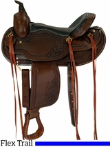"15"" to 17"" Dakota Western Saddle, Flex Tree Trail Saddle 2212"