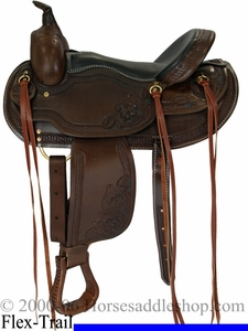 "Western Saddle by Dakota - Flex Tree FQHB in 15"" 16"" or 17"" USA Made 2212"
